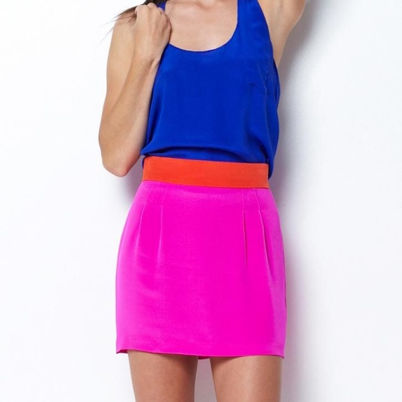NAVEN Skinny Mini Colorblock Skirt Size 6